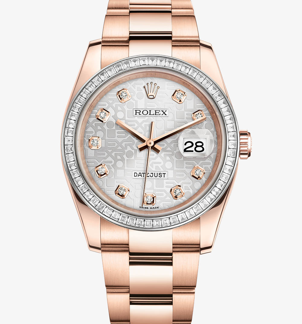 Replica Rolex Datejust 36 mm de reloj: 18 ct oro Everose - M116285BBR-0008 [5619]