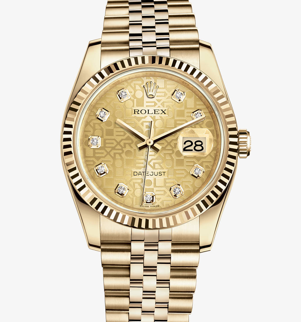 Replica Rolex Datejust 36 mm de reloj: 18 ct oro amarillo - M116238-0058 [846d]