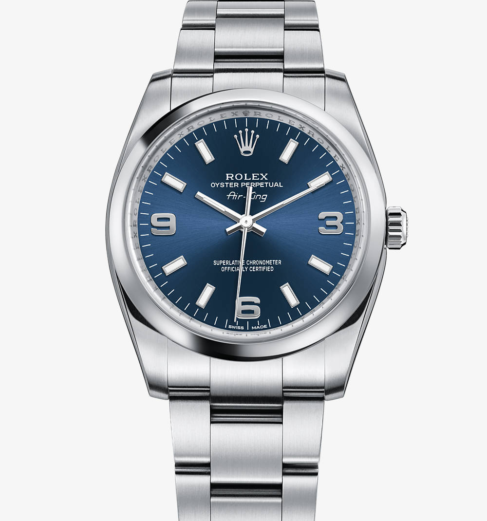 Replica Rolex Air-King de reloj: acero 904L - M114200-0001 [443b]